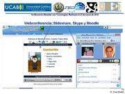 Webconferencia o Webinar con uso de Skype y  Slideshare en Moodle