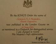 WW-II Distinguished Service