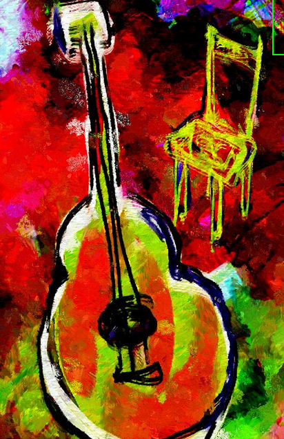 Van Gogh Inspired - Guitar and Yellow Chair