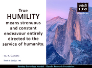 Thought For The Day ( HUMILITY )