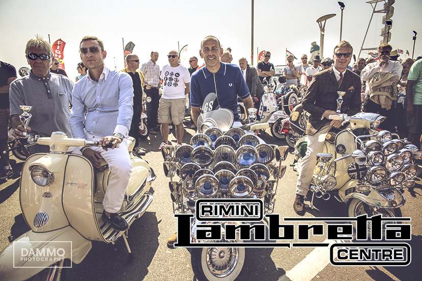 WINNERS OF BRIGHTON MODERNIST WEEKENDER 2017 SCOOTER COMPETITION sponsored by RIMINI LAMBRETTA CENTRE
