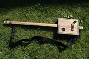 Two String Frettless Bass Cigar Box Guitar