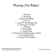 Playing (No Rules) track listing