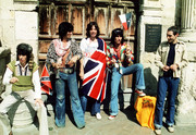 The Rolling Stones with English Flag