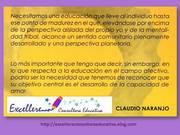 Claudio Naranjo. La Educación
