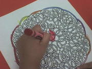 Coloreando mandalas