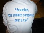 Sandrine Ruppol et son T-shirt compétent