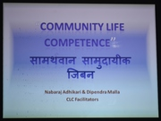 Community Life Competence applied in Pokhara by nabaraj adhikari and dipendra malla