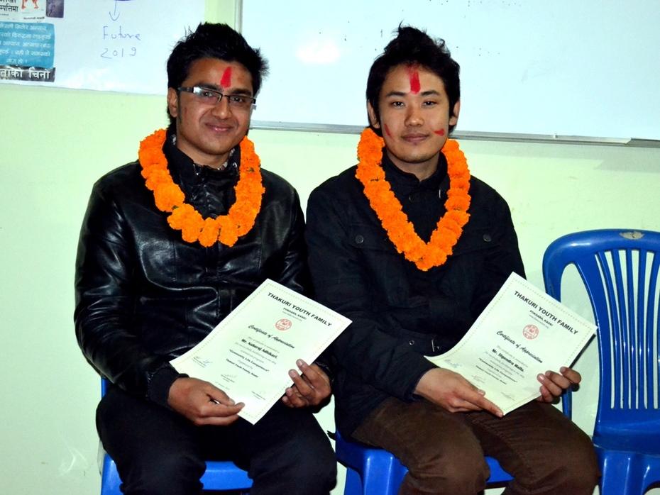 Dipendra Malla and Nabaraj Adhikari CLC facilitators