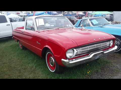 Checking Out Classic Cars With Pam 1961 Ford Ranchero  At the 2019 Spring Carlisle