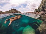 Swimming in Lake Malawi