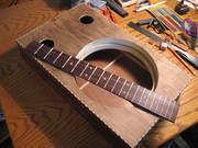 """18"""" x 11"""" Flatware box.  Rosewood fretboard with wood fret markers"""