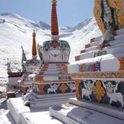 Tibetan Temples at 12,000 ft Near Tibet