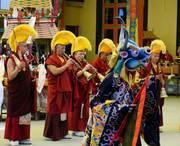 Tibetan Buddhist in Losar ceremonies