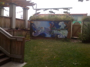 Mural on Eco Roof drop