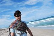 Toga man on the beach