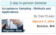 Acceptance Sampling - Methods and Applications
