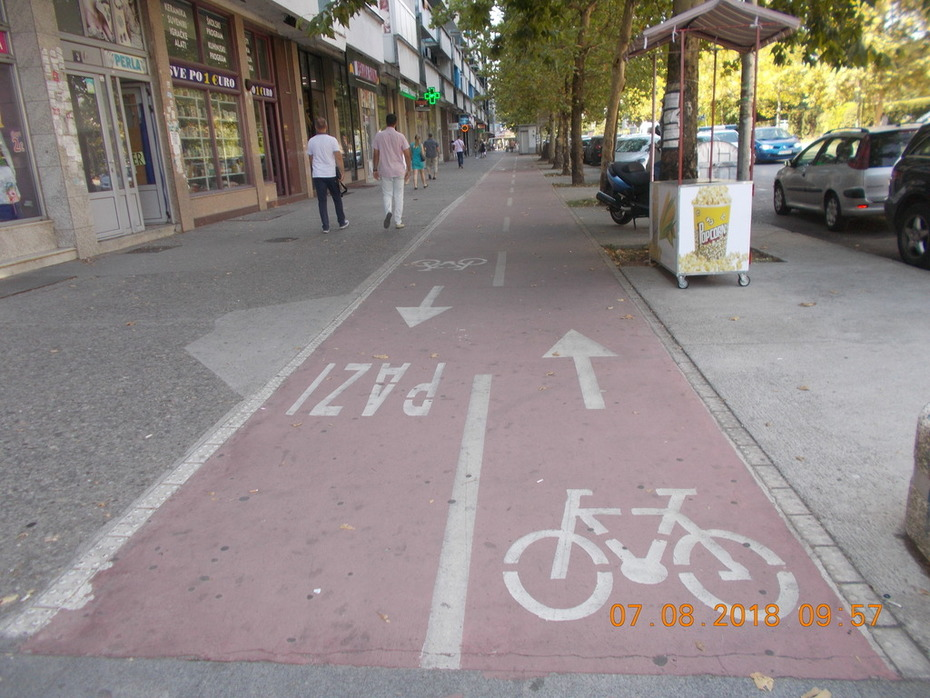 CYCLING TRACKS IN PODGORICA IN MONTENEGRO.