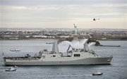 USS New York and Lady Liberty