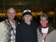"""Proud parents with their """"new"""" sailor"""