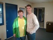 David and Sean Astin in El Centro