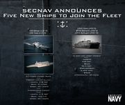 SecNav Names Multiple Ships