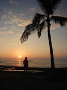 Eric- contemplating a Hawaii sunset