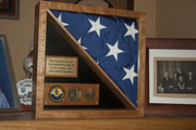 Re-Enlistment Flag Display Case