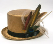 Straw top hats. My signature hats.