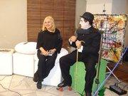 entrevista com charles chaplim de patins