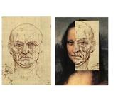 Monalisa e estudo de Leonardo