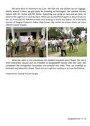 Nepal teacher visit report