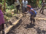 June 2014: Farmers provide training on land preparation