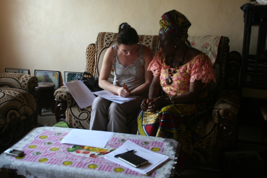 Farmer questionnaire: Rachel Marchal with a member of the Church Street Farmers Group