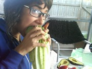 Getting down on some tomato hoagies