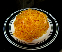 811 Recipes: Raw Butternut Squash Noodles with Many Delicious Sauce Variations