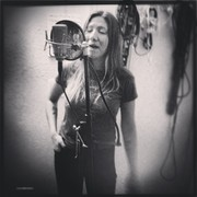 """Recording vocals on my new single """"Follow the Breeze"""""""