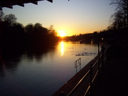sunset on the river2
