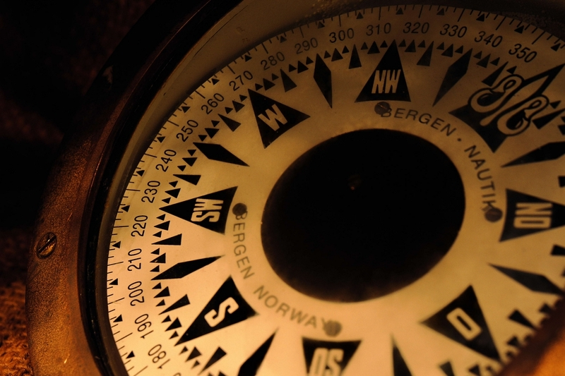 Vintage Norwegian Compass