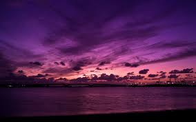 purple sky earth