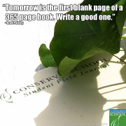 Tomorrow is a blank page