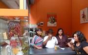 CIRIACO QUISPE NOS VISITA EN AROMA & CAFES DEL PERU