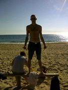 On the beach in the Algarve. January2012