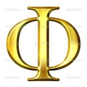 Phi-3D-Golden-Greek-Letter-