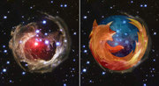 Hubble photos and FireFox