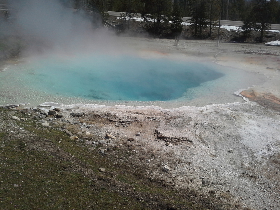 Hot Pot, Yellowstone, April 2014