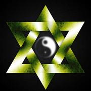 merkaba yin-yang design
