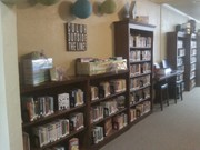 Library arrangement and decor