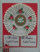 Book Pages Wreath, Library Christmas Display