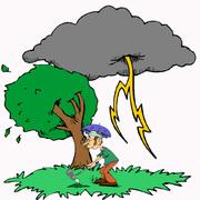 rain cloud & Tree